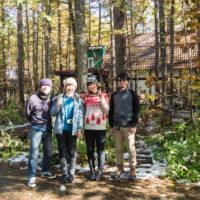 昨日は台風の影響で雪・・札幌在住のユニット「木箱」さんもご宿泊!