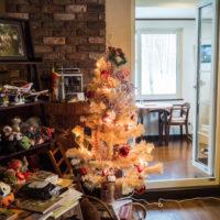 """今年のクリスマス・・昨夜からの雪が雨に変わって""""氷のオブジェ"""""""
