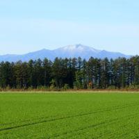 中札内村から見る日高山脈・・標高の高い山々がうっすら雪化粧