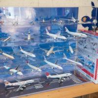 掃除のついでに・・「JAL旅客機コレクション」を並べてみました。
