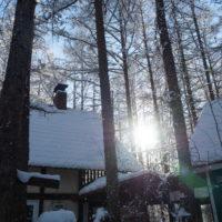 大晦日の朝、マイナス22℃で快晴、ダイヤモンドダスト?