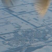 空から中札内村を眺めながら・・釧路から飛行機で札幌へ